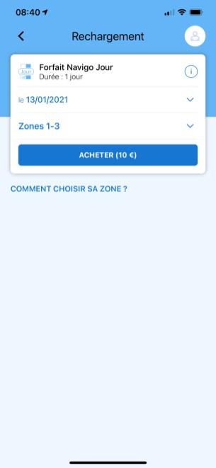 Il est possible d'ajouter un forfait sur son pass Navigo via l'iPhone