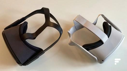 De gauche à droite : le casque Oculus Quest et l'Oculus Quest 2
