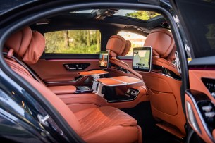 At the back of the Mercedes S-Class // Source: Marius Hanin