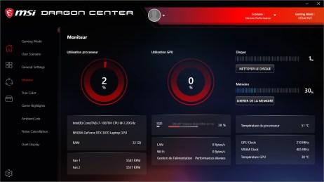 MSI Dragon Center - MSI GE76 Raider