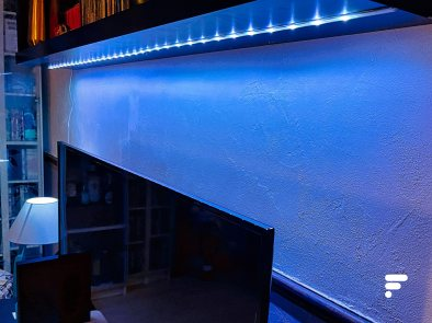 Lidl LED strip is easy to install and offers 16 million colors