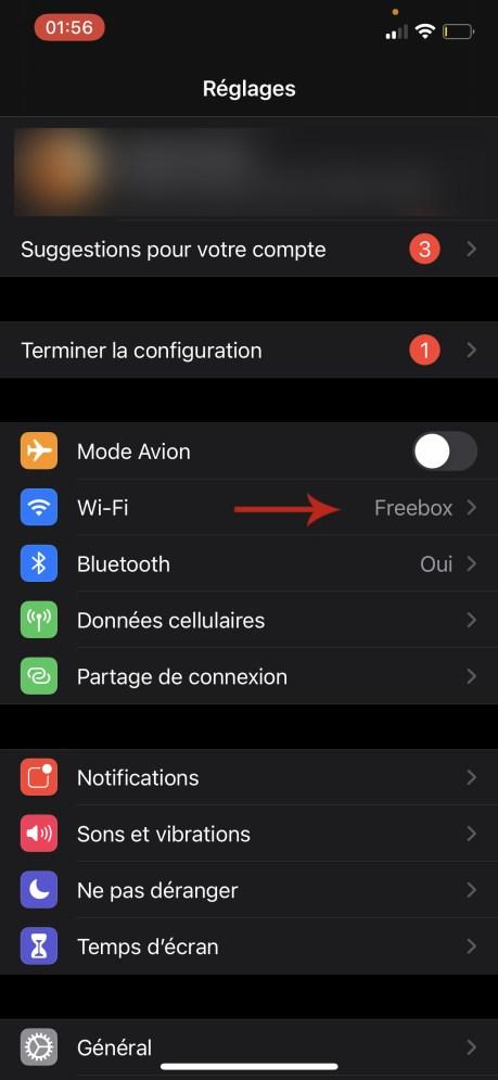 Comment connaitre son adresse IP sur iOS 01