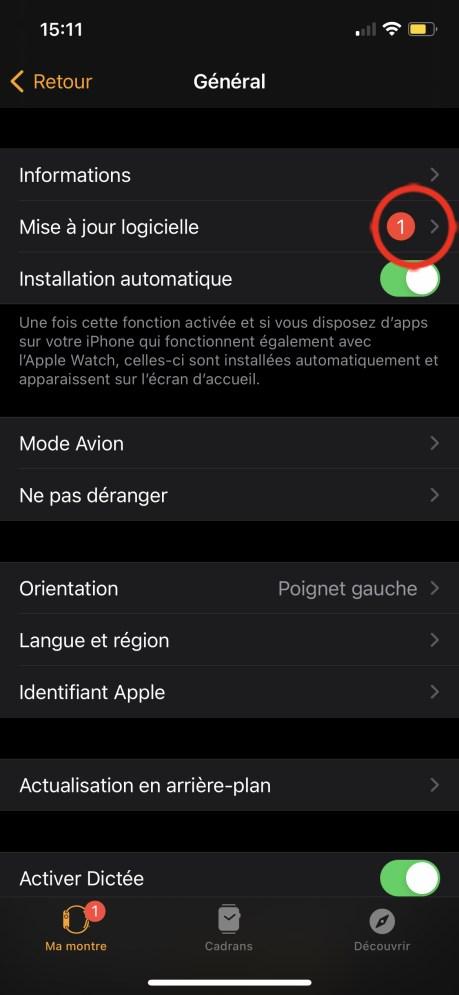 Comment Mettre à Jour son Apple Watch avec l'iPhone 02
