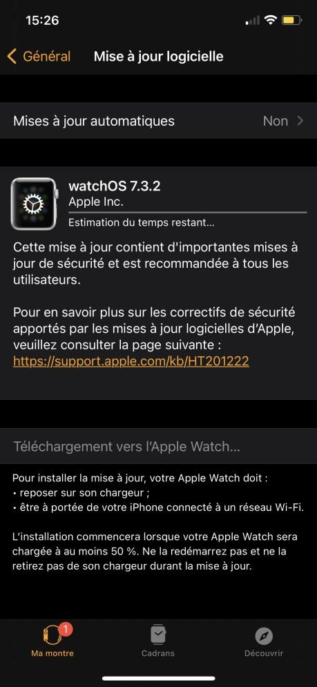 Comment Mettre à Jour son Apple Watch avec l'iPhone 04