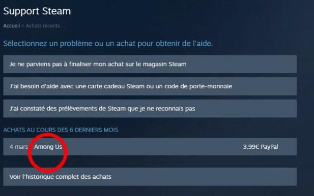 Comment se faire rembourser un jeu Steam 03