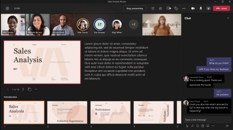 Microsoft Teams PowerPoint Live // Source : Microsoft