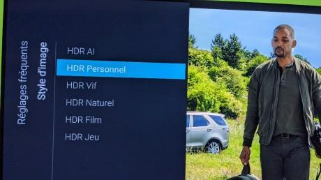 Le mode HDR Personnel