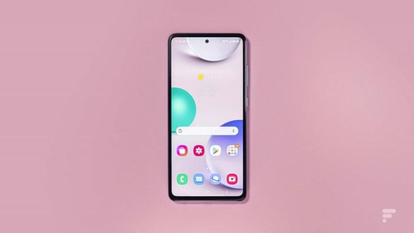 L'écran du Samsung Galaxy A52 5G