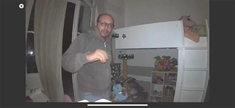 La détection de mouvement en intérieur avec projecteur activé // Source : Frandroid / Yazid Amer