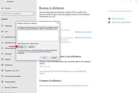 Autoriser la prise de contrôle à distance d'un PC sous Windows 10 006