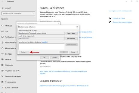 Autoriser la prise de contrôle à distance d'un PC sous Windows 10 007