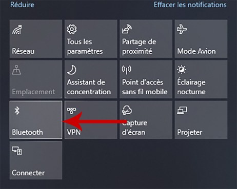 Comment activer et désactiver le Bluetooth sous Windows 10 03
