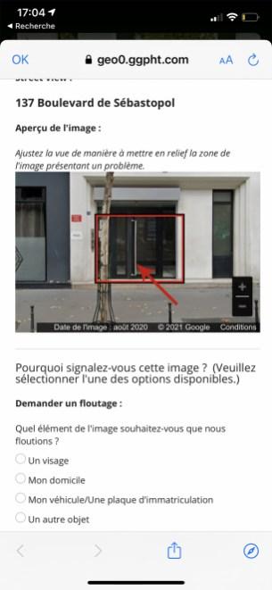 Comment flouter sa maison sur google street-view sur smartphone 04