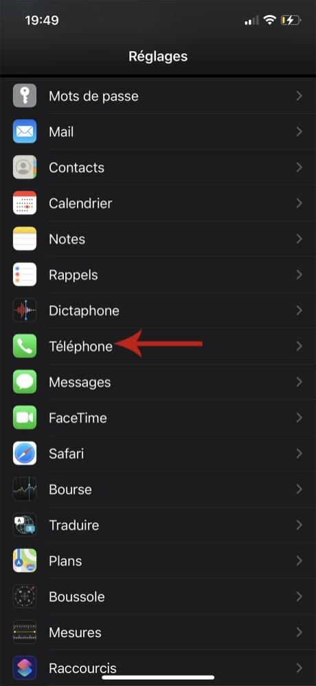 Comment mettre en sileniceux les numéros inconnus ou privés sur iPhone 03