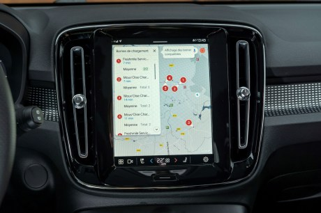 L'interface Android Auto sur le Volvo XC40 Recharge Twin / Source : ACE Team pour Volvo Cars France
