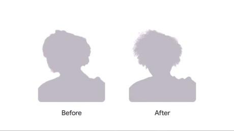 En mode Selfie, les Pixel devraient mieux capturer les contours de cheveux crépus et bouclés. // Source : Google