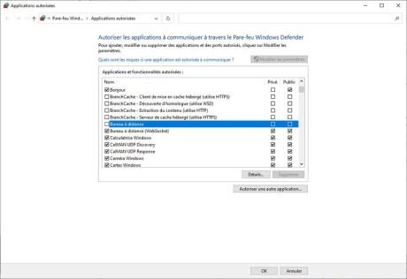 Autoriser le contrôle à distance via Internet sur le PC cible 04