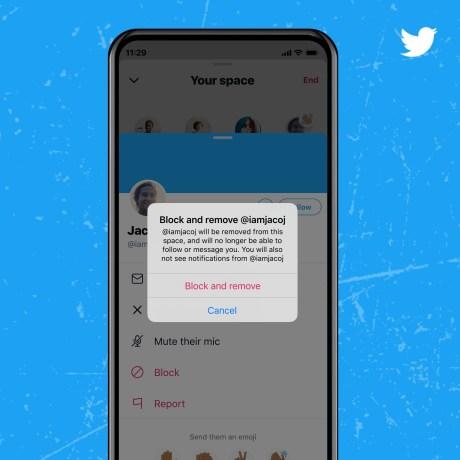 Vous pouvez bloquer certains auditeurs sur Spaces // Source : Twitter