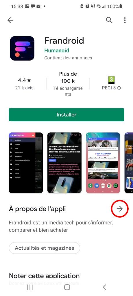 Comment télécharger une appli à partir du Google Play Store et sans le Play Store 05