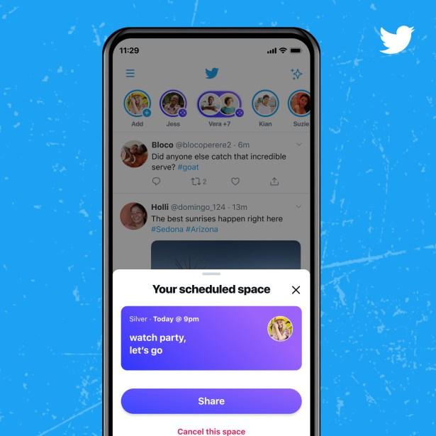 Vous pouvez prévoir une Twitter Space