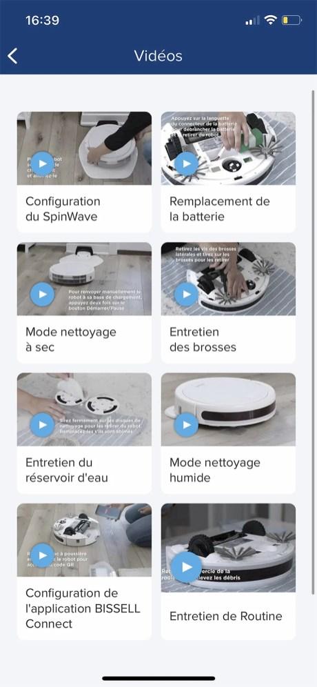 Plusieurs didacticiels vidéos vous aident à vous familiariser avec le Spinwave // Source : Frandroid - Yazid Amer