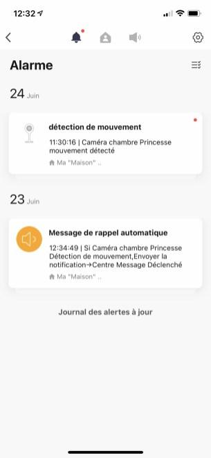 Pour retrouver les messages et alerte, il faut passer impérativement par l'onglet profil de l'écran d'accueil de l'app // Source : Frandroid / Yazid Amer