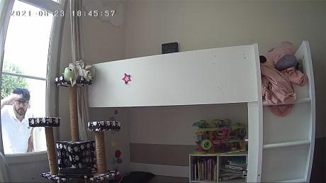 La caméra détecte sans difficulté des mouvements suspect derrière une fenêtre // Source : Frandroid / Yazid Amer