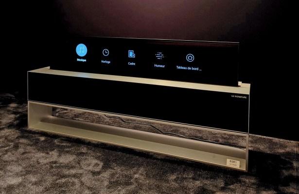 LG OLED65R1 en mode écran partiel