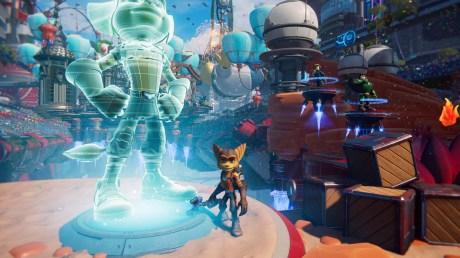 Ratchet & Clank : Rift Apart en mode d'affichage Fidélité (4K/30 fps avec ray tracing) // Source : Capture du jeu