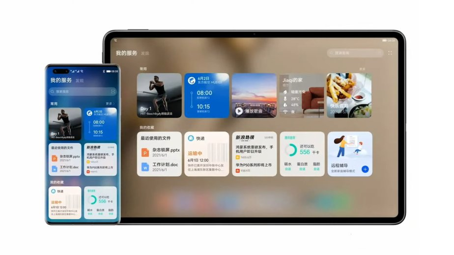 Un smartphone et une tablette sous HarmonyOS