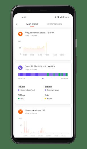 Xiaomi Mi Smart Band 6 - Mi Fit App - Suivi santé (3)