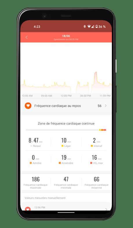 Xiaomi Mi Smart Band 6 - Mi Fit App - Suivi santé (4)