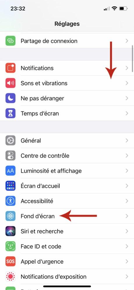 Comment changer son fond d'écran sur iPhone 02