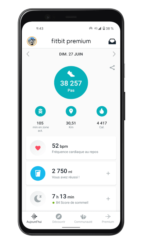 Fitbit Luxe - App - Homepage (1)