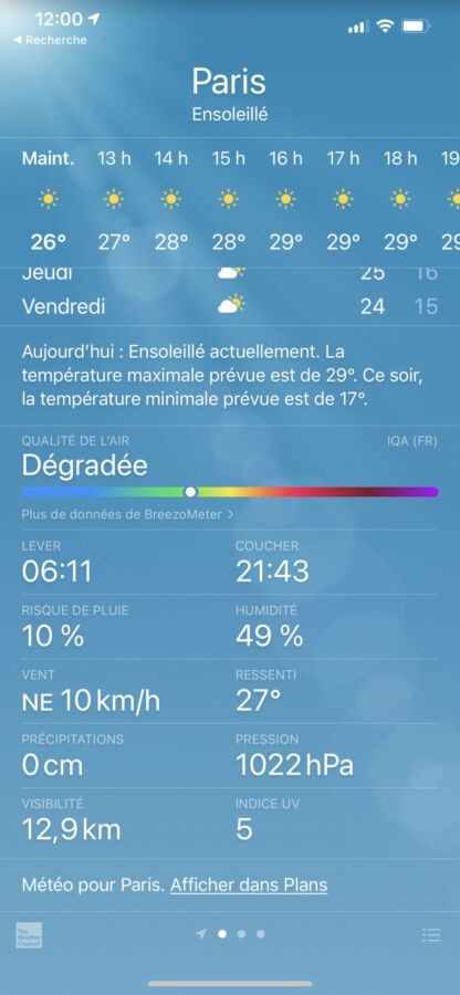 iOS 14.7 brings air quality to the Weather app