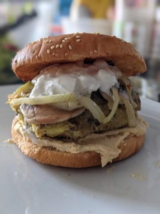 Portrait burger Pixel 5