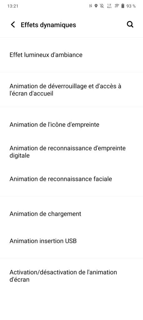 Les options de personnalisation du Vivo V21.