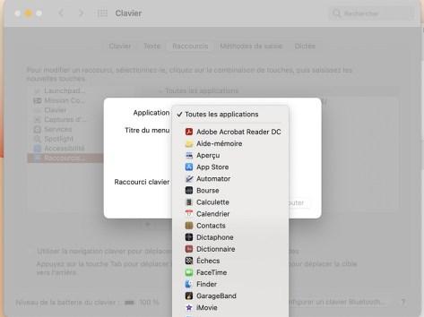 Comment créer des raccourcis clavier sur mac06