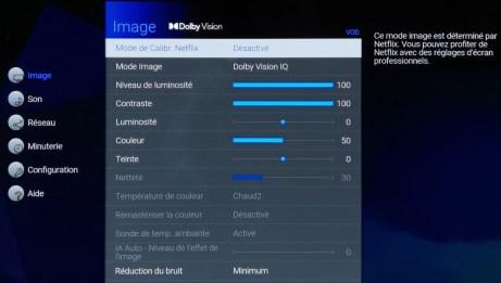 Passez en mode Dolby Vision.