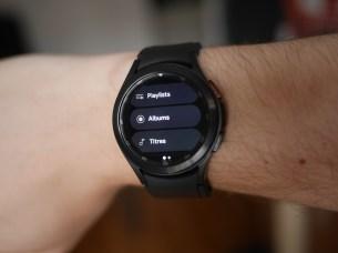 La nouvelle app YouTube Music pour Wear OS 3. // Source : Frandroid