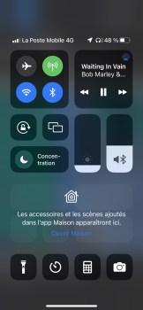 centre de contrôle iOS