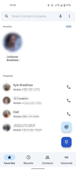 L'interface de Google Téléphone sur Android 12. // Source : 9to5Google