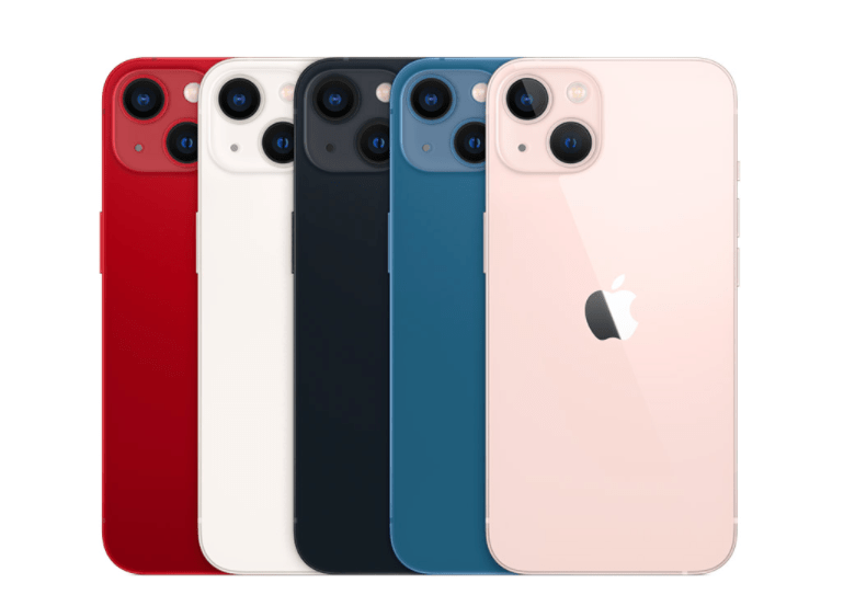 Here are all the colors of iPhone 13