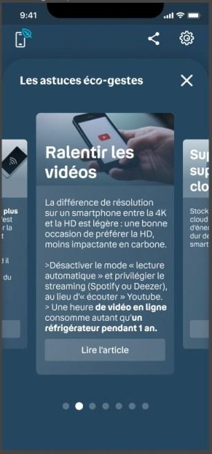 mon empreinte smartphone propose des conseils // Source : Bouygues Telecom