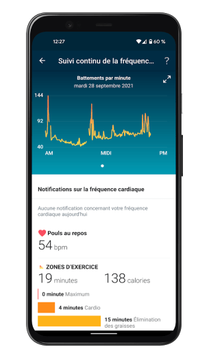 Fitbit Charge 5 - Application - Fréquence cardiaque (2)