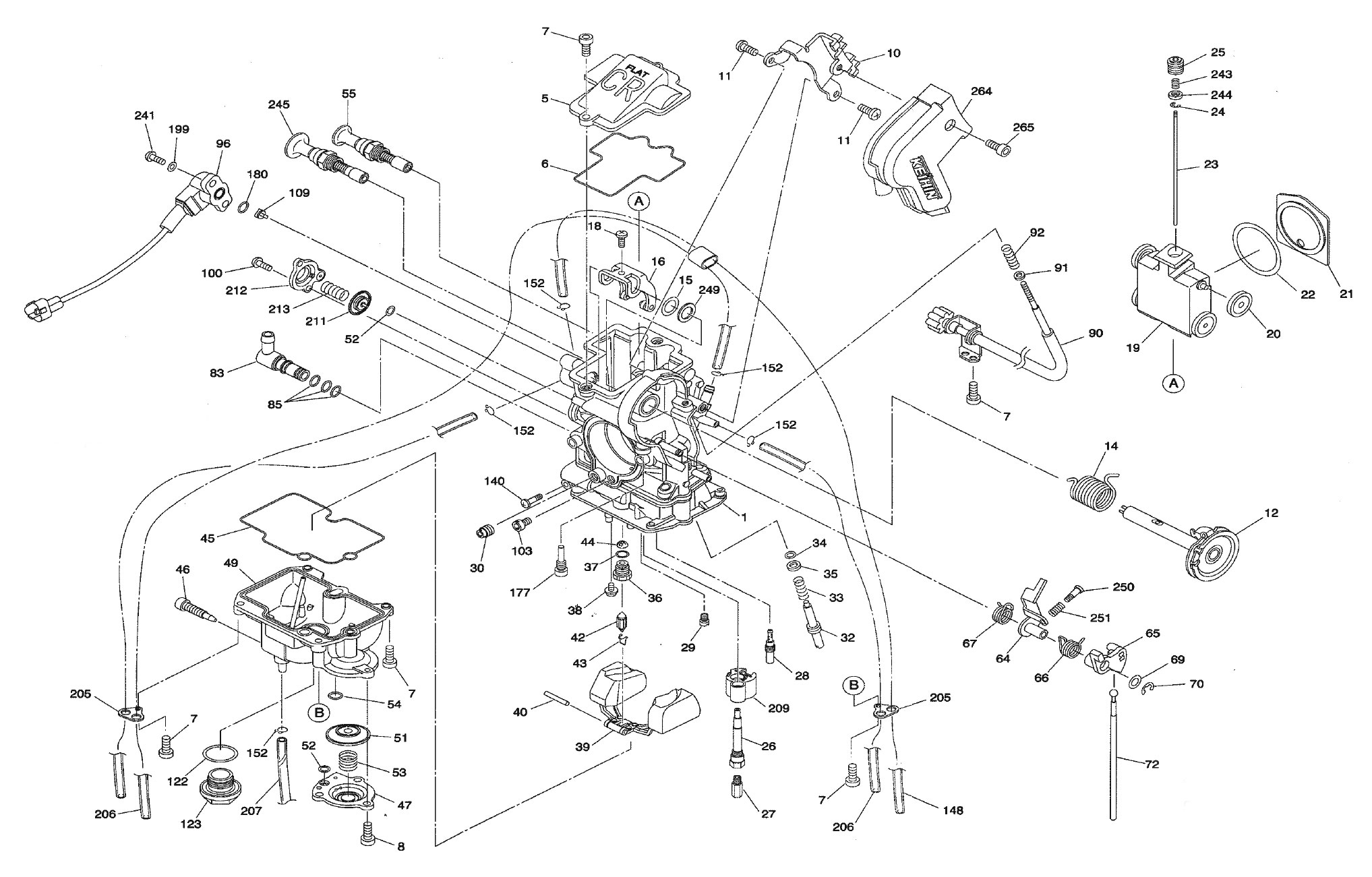 Exploded View Parts Diagram Keihin Fcr Mx 32 37 39 40 41