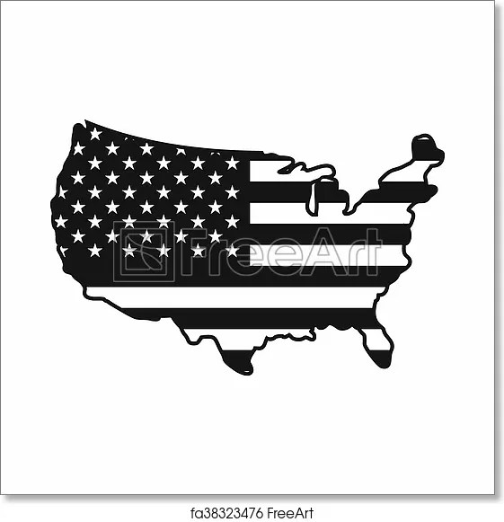 A map legend is a side table or box on a map that shows the meaning of the symbols, shapes, and colors used on the map. Free Art Print Of Usa Map Icon Simple Style Usa Map Icon In Simple Style Isolated On White Background Freeart Fa38323476