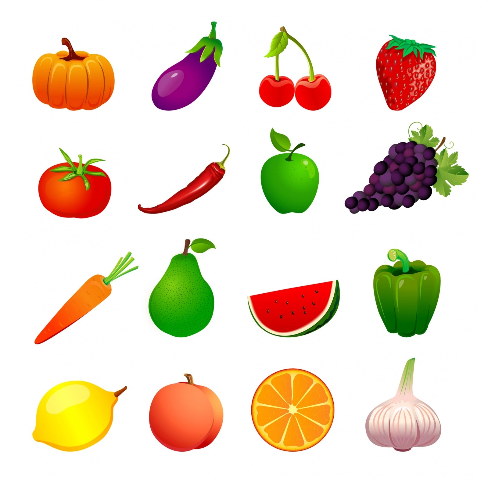 Free 50 Vector Fruits Amp Vegetables Icons In Svg