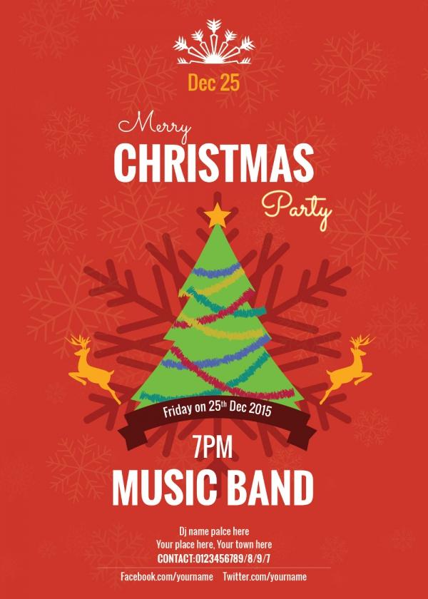 Free PSD Christmas Invitation Card Designs FreeCreatives