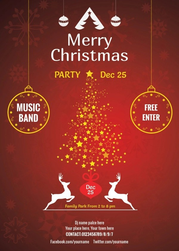 cool christmas party invitation card